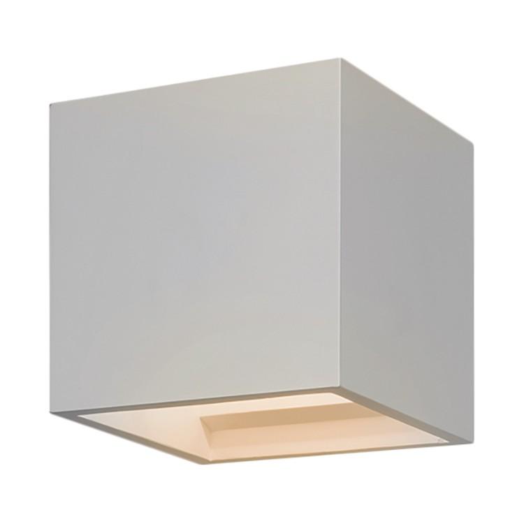 Wandleuchte Pienza 1-flammig ● Weiß Stein & Gips- Illumina A++