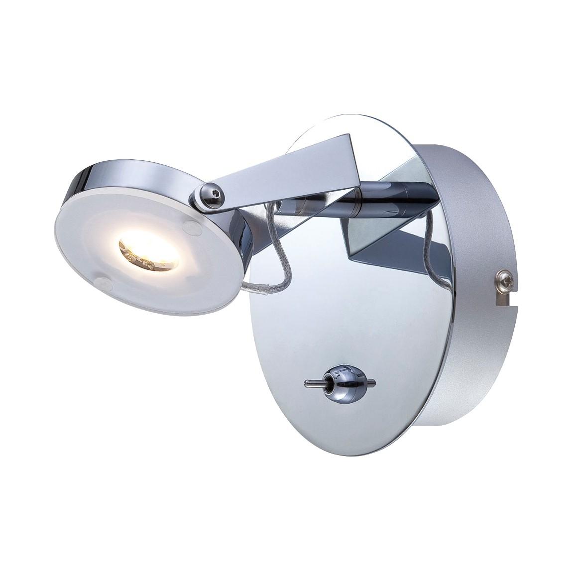 LED Wandleuchte Platrix ● Metall ● Silber- Näve A+