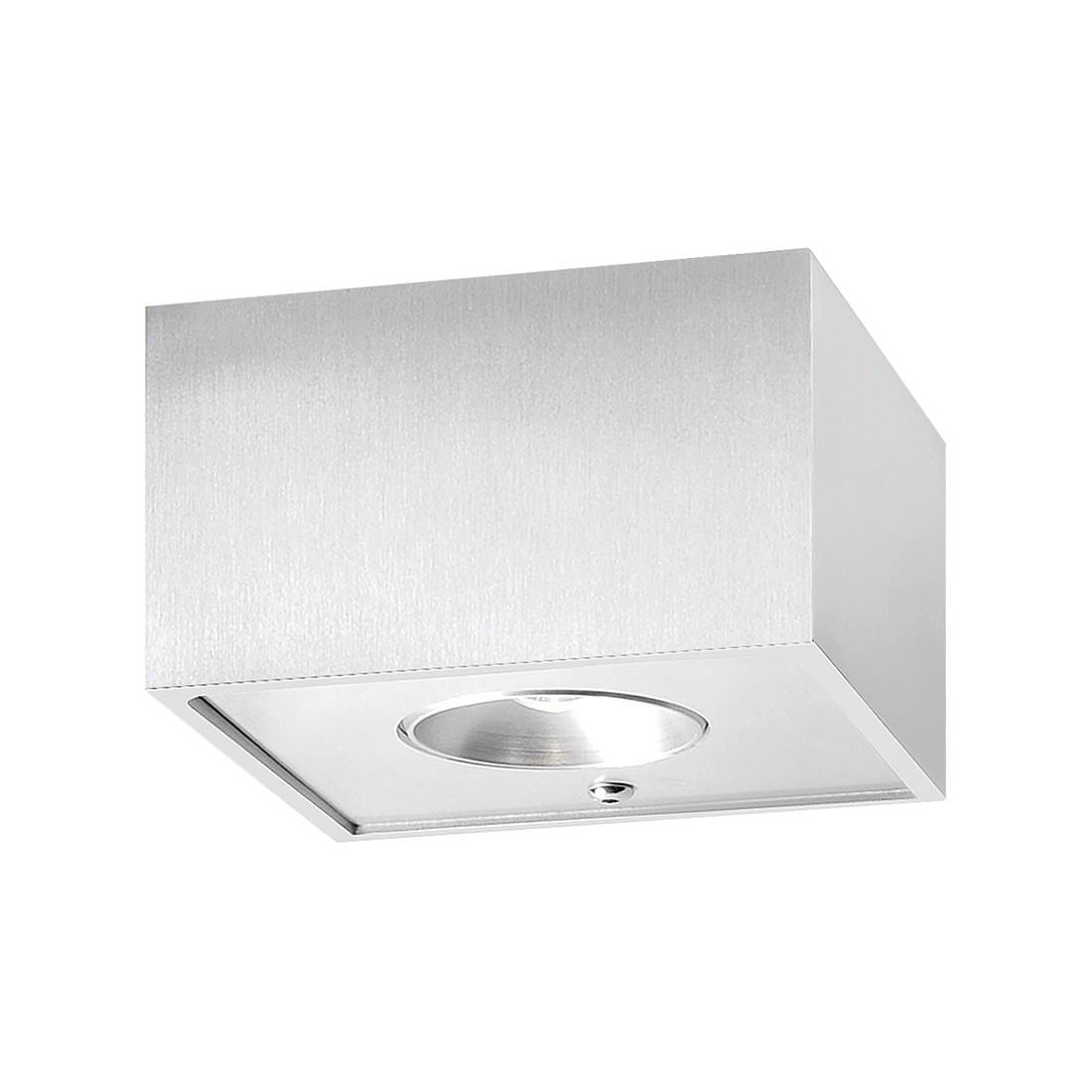 Wandleuchte Prohn  – Aluminium matt – 2-flammig, FLI Leuchten günstig