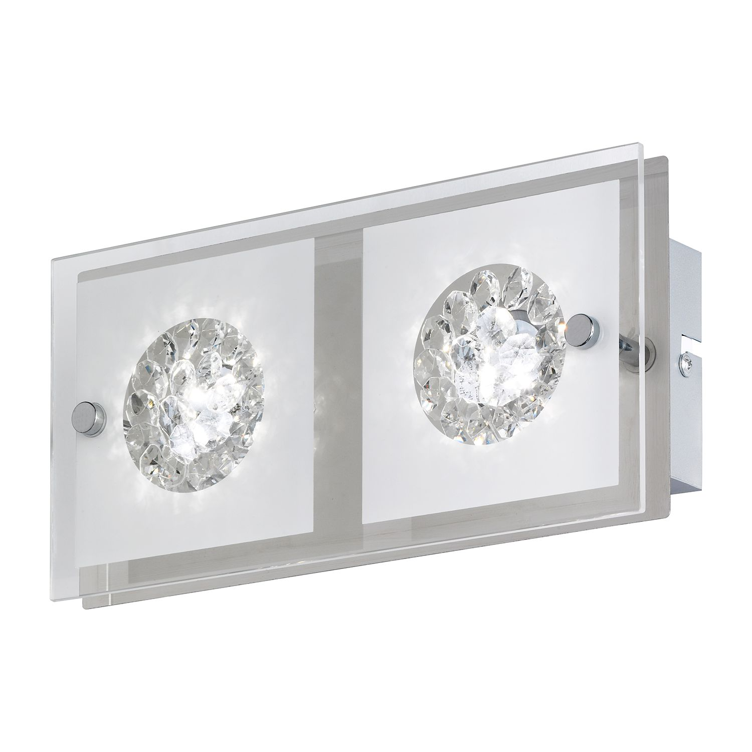 LED-Wandleuchte Reims ● Metall / Glas ● 2- Wofi A+