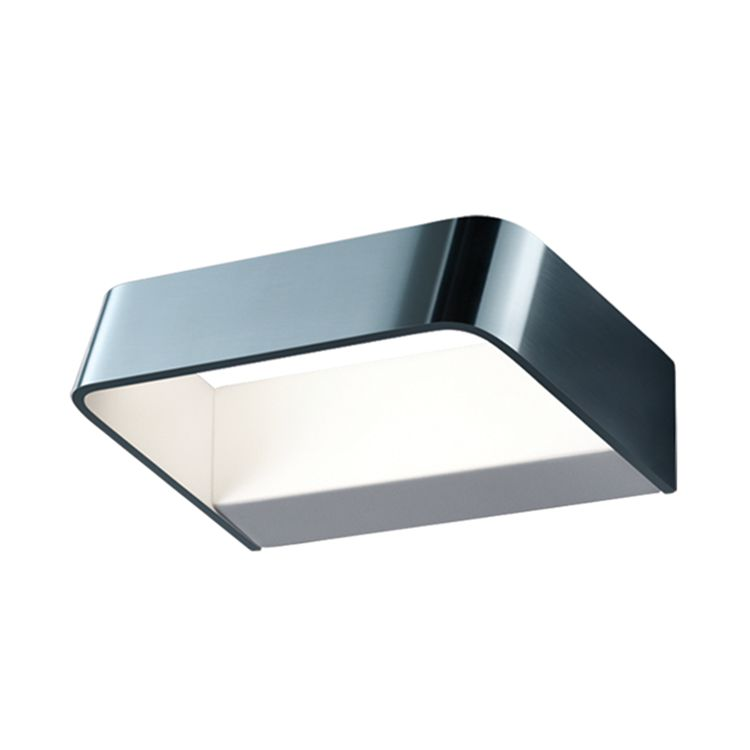 LED-Wandleuchte Rob Aluminium ● Silber & Weiß- Helestra A+