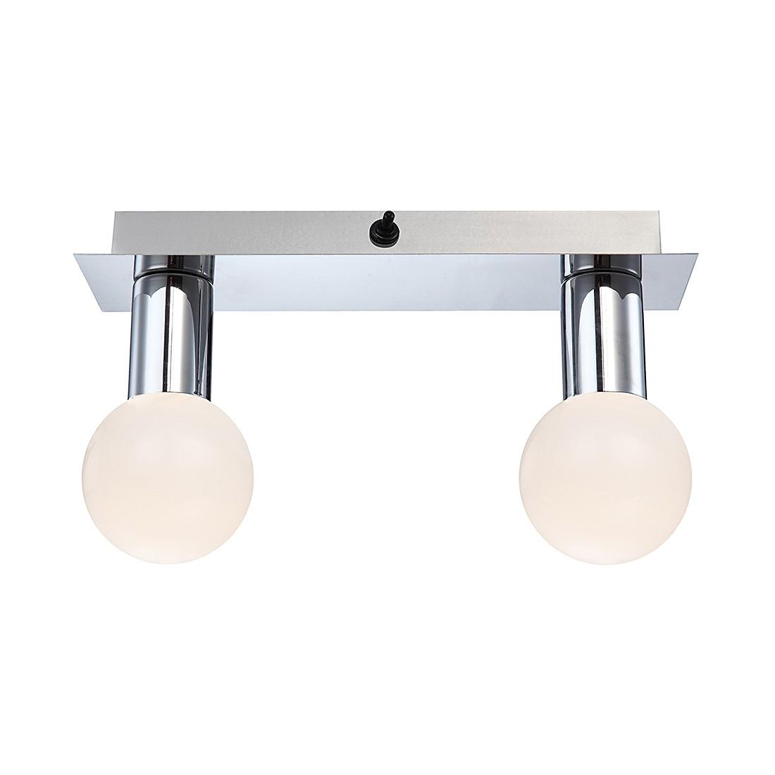 EEK A+, Wandleuchte SOLIG – Metall – Silber – 2-flammig, Globo Lighting jetzt bestellen