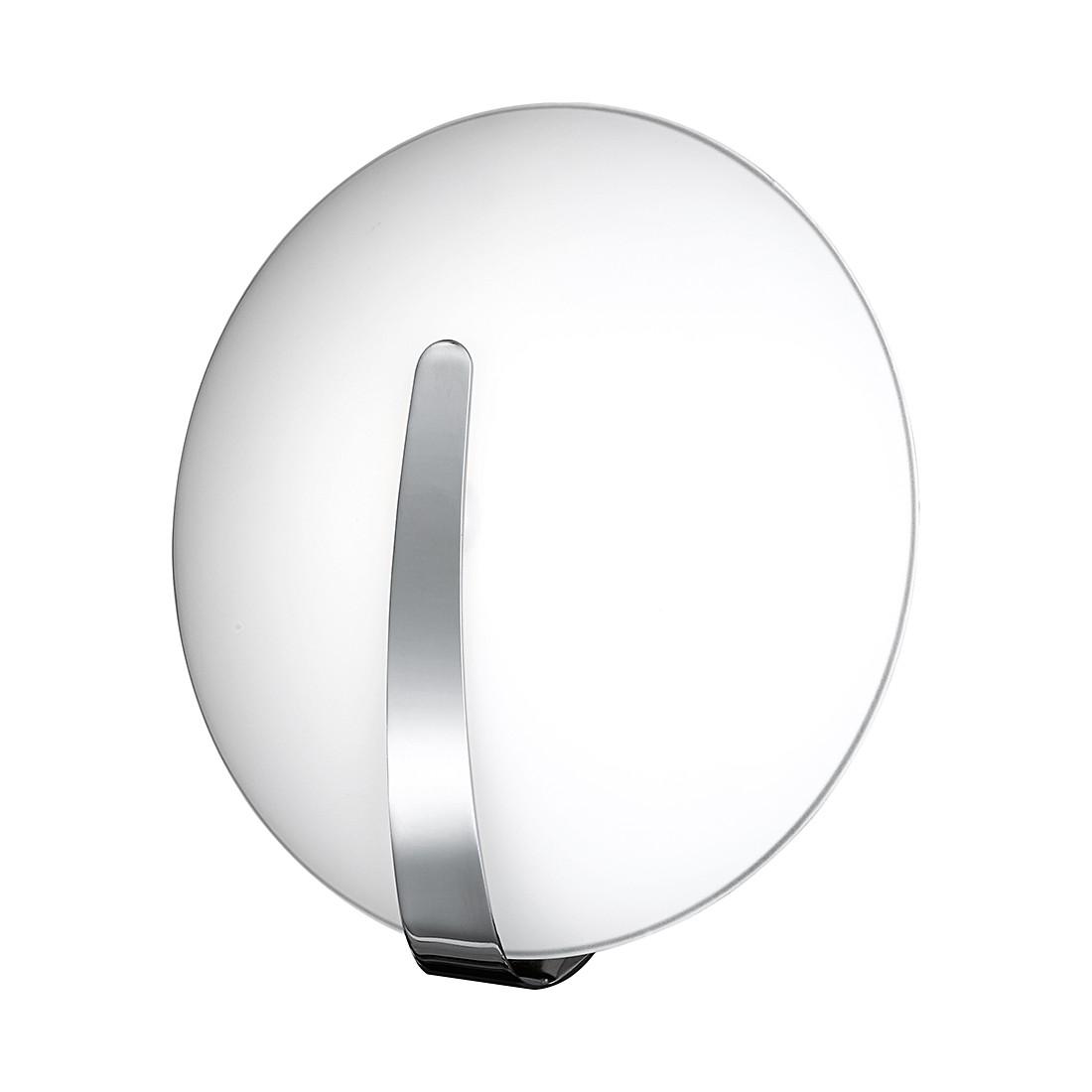 EEK A++, Wandleuchte Strap – Metall/Glas – Silber – 1-flammig, Honsel bestellen