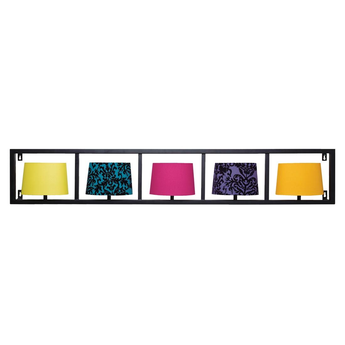 energie a verticale wandlamp parecchi zwart 5 lichtbronnen. Black Bedroom Furniture Sets. Home Design Ideas