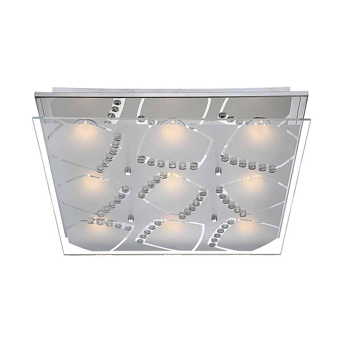 Wandleuchte ZARIMA – Metall/Glas – 9-flammig, Globo Lighting online kaufen