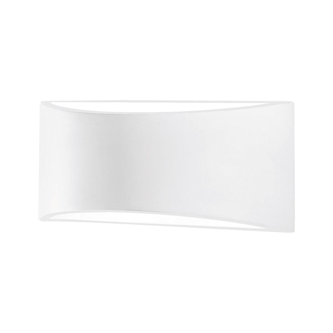 Wandleuchte Zirkow ● Stein/Gips ● Weiß ● 1-flammig- FLI Leuchten A+