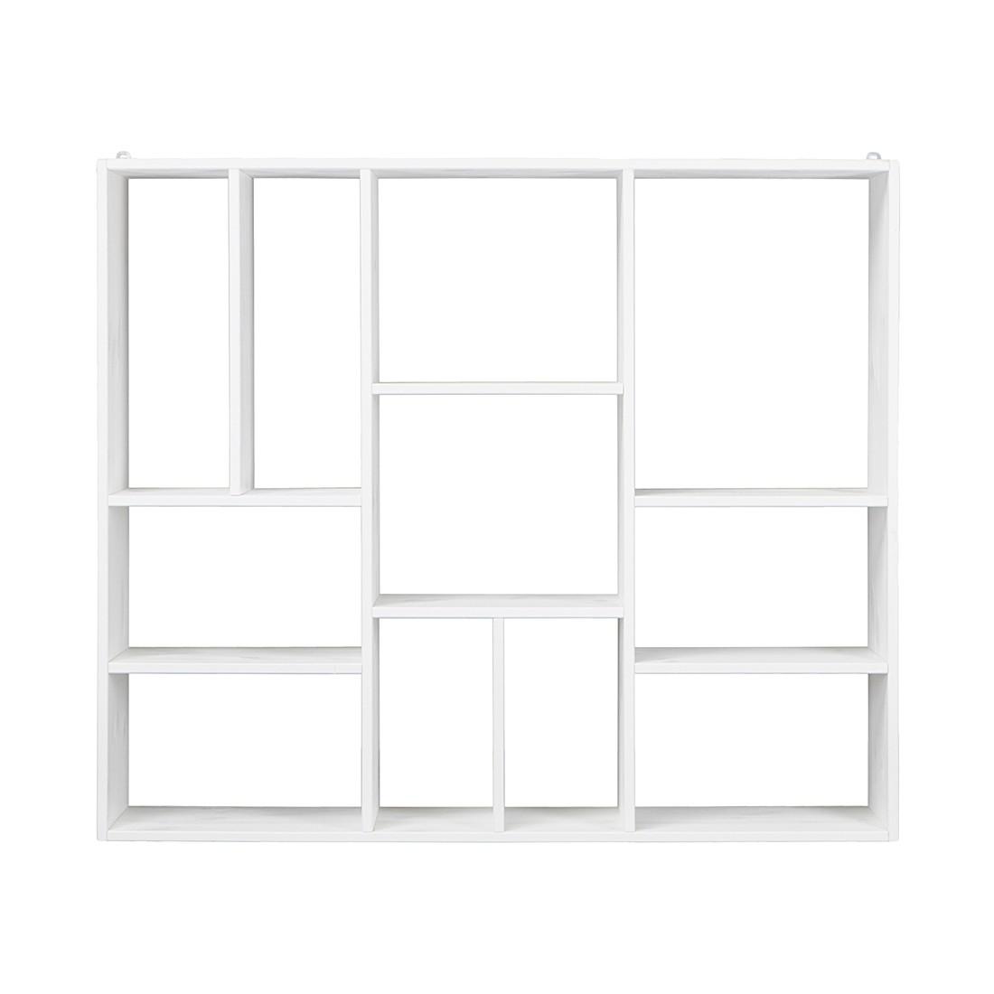Wandregal Beatrix – Kiefer massiv – Weiß, vtwonen jetzt bestellen