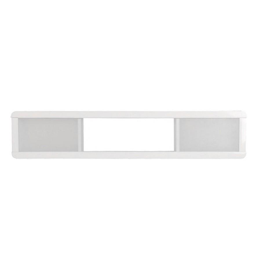 Wandregal Leonardo –  Weiß Hochglanz – mit 2 Glasschiebetüren, Leonardo günstig kaufen