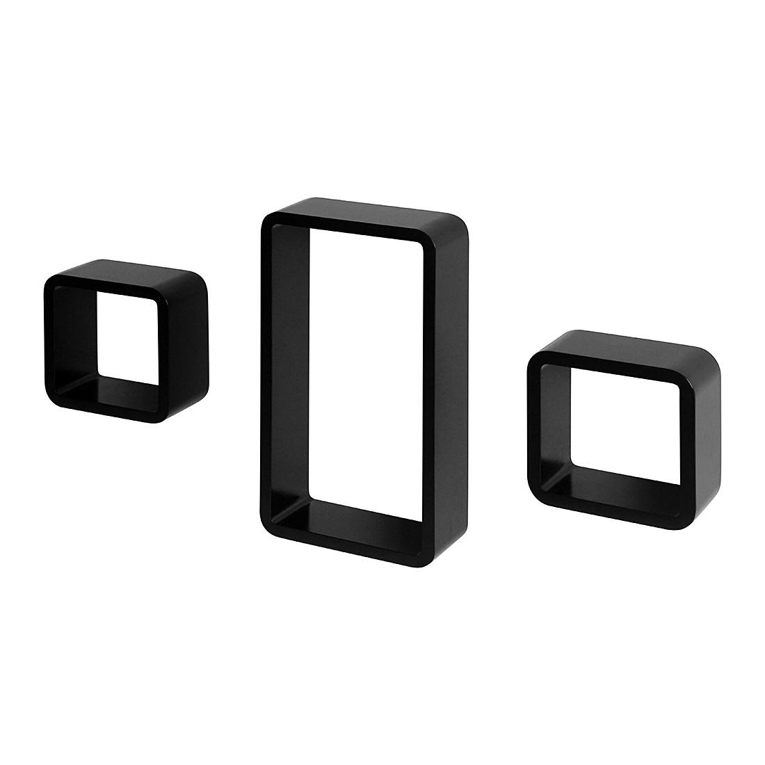 kleine meubels Wandkastenset Anoka (3-delig) - hoogglans wit/mat ...