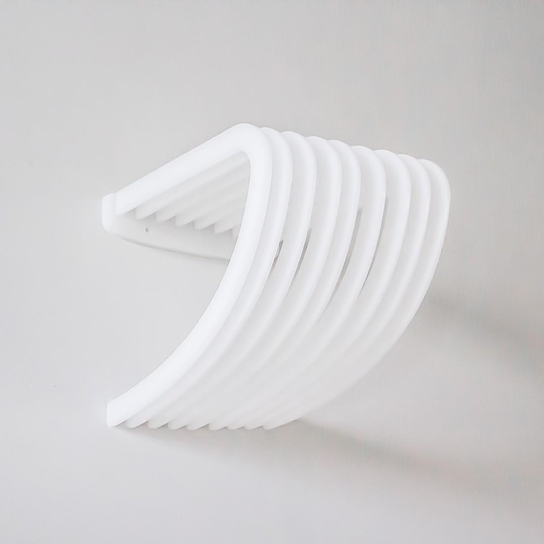 Wandregal Shell I – Weiß, Metrocuadro Design günstig online kaufen