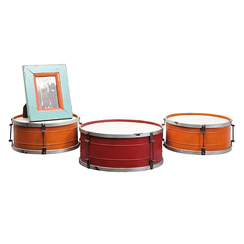 Wandregal Snare Drum – Rot/Orange, Kare Design günstig kaufen