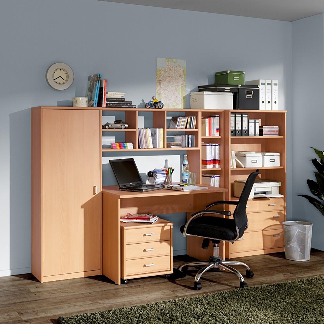 cs schmal wandregal soft plus ii buche dekor h ngeregal b cherregal wandboard ebay. Black Bedroom Furniture Sets. Home Design Ideas