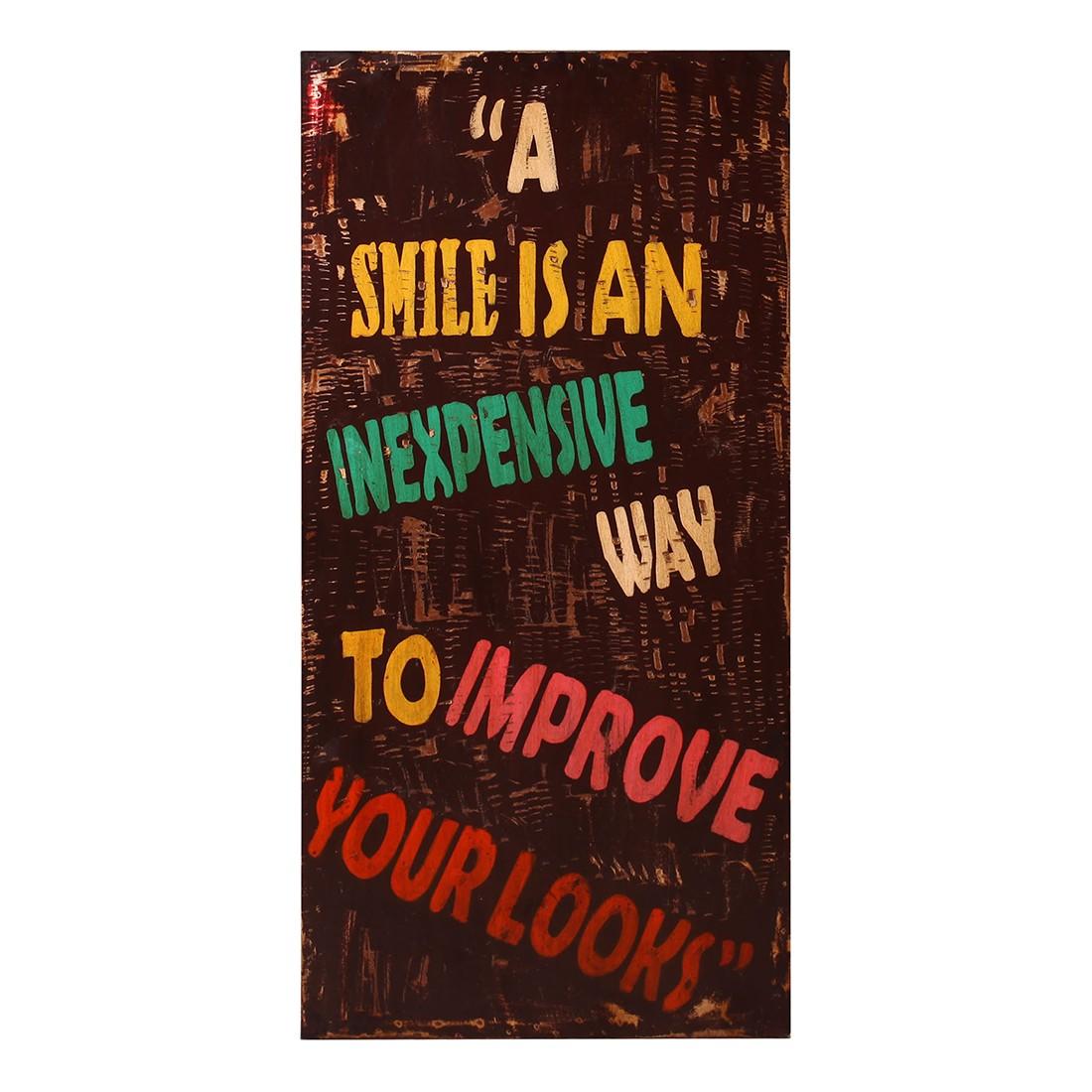 Wandschild Smile – Braun – lackiert, furnlab günstig kaufen