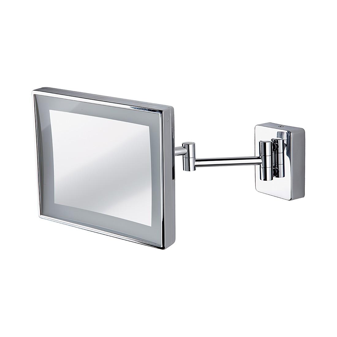 Wandspiegel Alex – Chrom, LED-Beleuchtung, 3-fache Vergrößerung, Nicol-Wohnausstattungen günstig kaufen