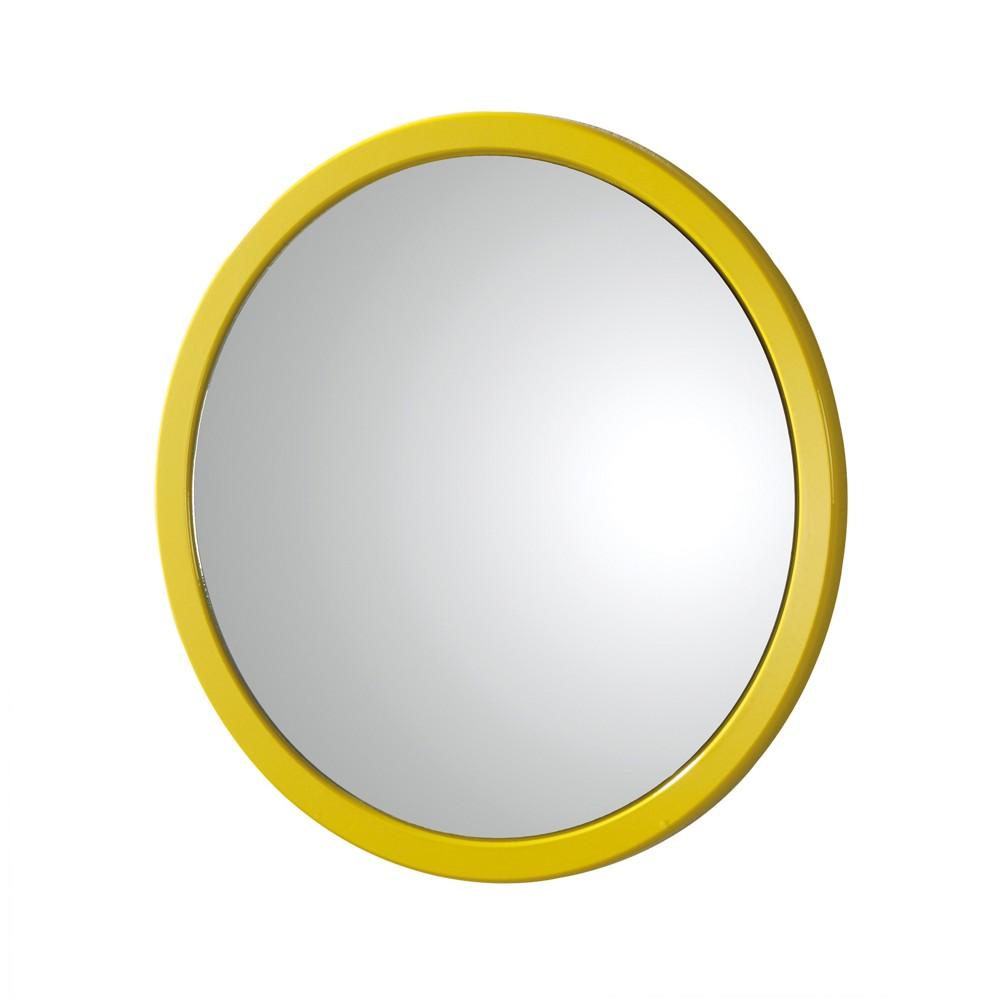 Wandspiegel Unister – Gelb Hochglanz – Rund, Tollhaus kaufen