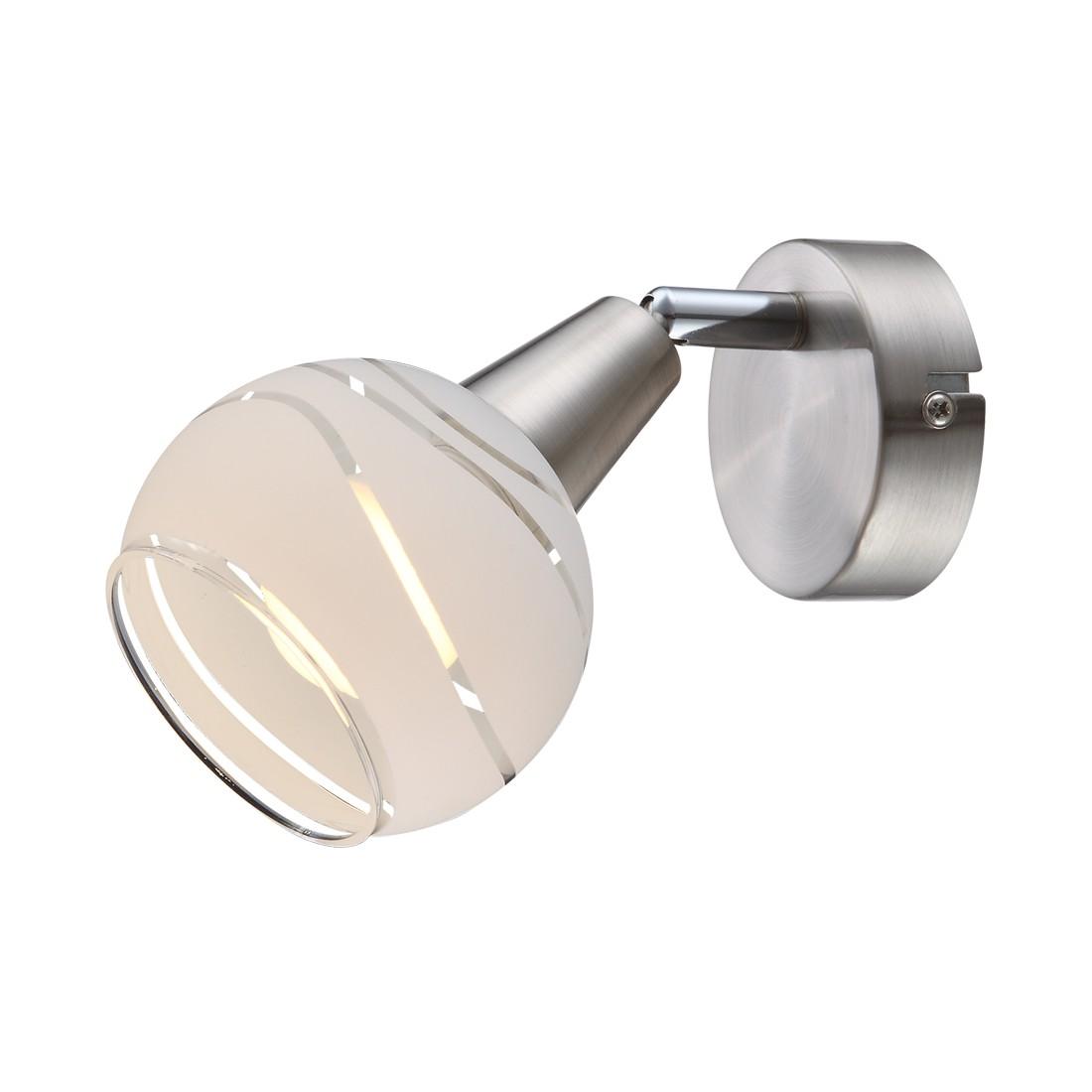 EEK A++, Wandstrahler ELLIOTT – Nickel/Glas – 1-flammig, Globo Lighting günstig bestellen
