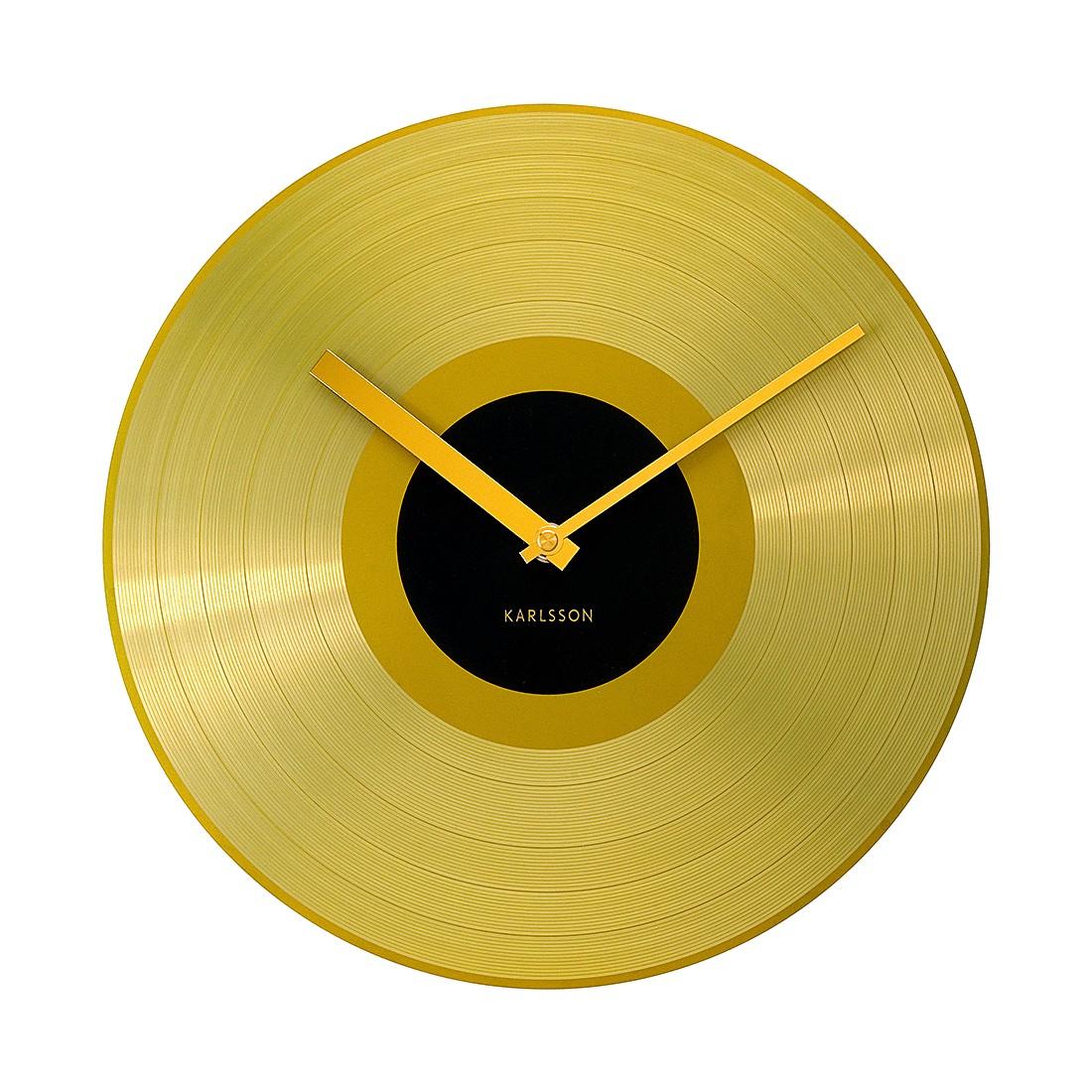 Wanduhr Golden Record – Aluminium, Karlsson online kaufen