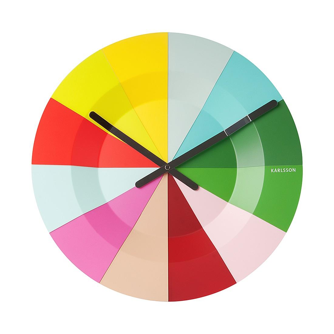 Wanduhr Slices –  mehrfarbig, Karlsson online kaufen