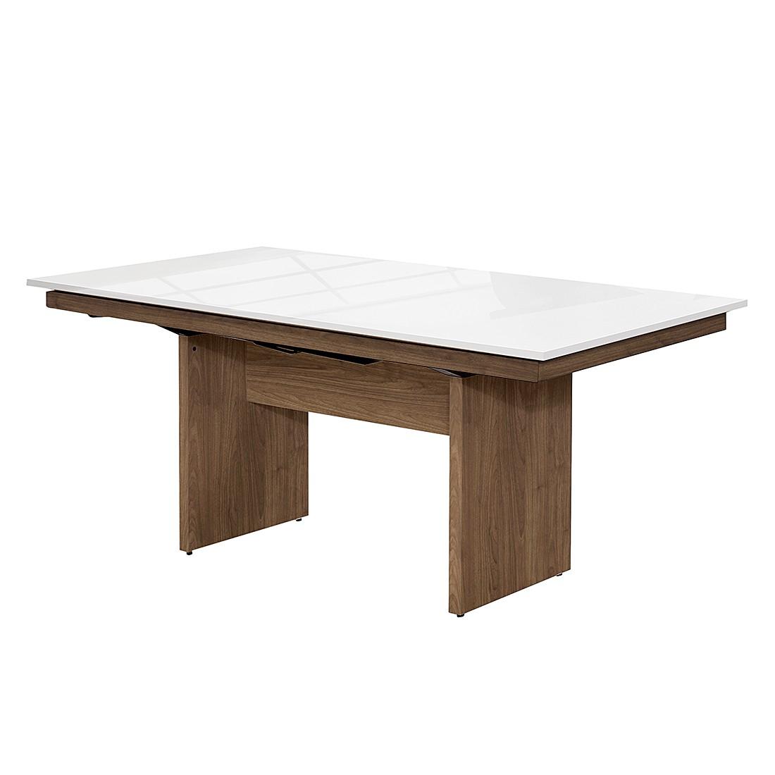 Wangentisch Deck – Walnuss Dekor/Hochglanz Weiß – 220 x 75 cm, Arte M online kaufen