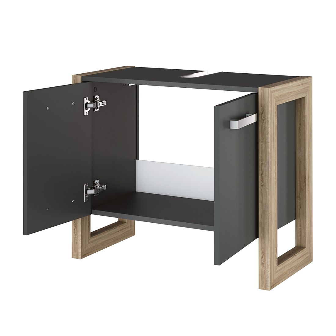 waschbeckenunterschrank eiche dekor badschrank badschrank. Black Bedroom Furniture Sets. Home Design Ideas