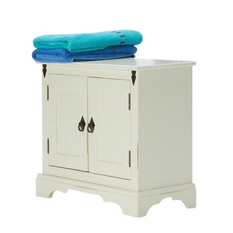 Waschbeckenunterschrank Capri - Pinie massiv - weiß lackiert