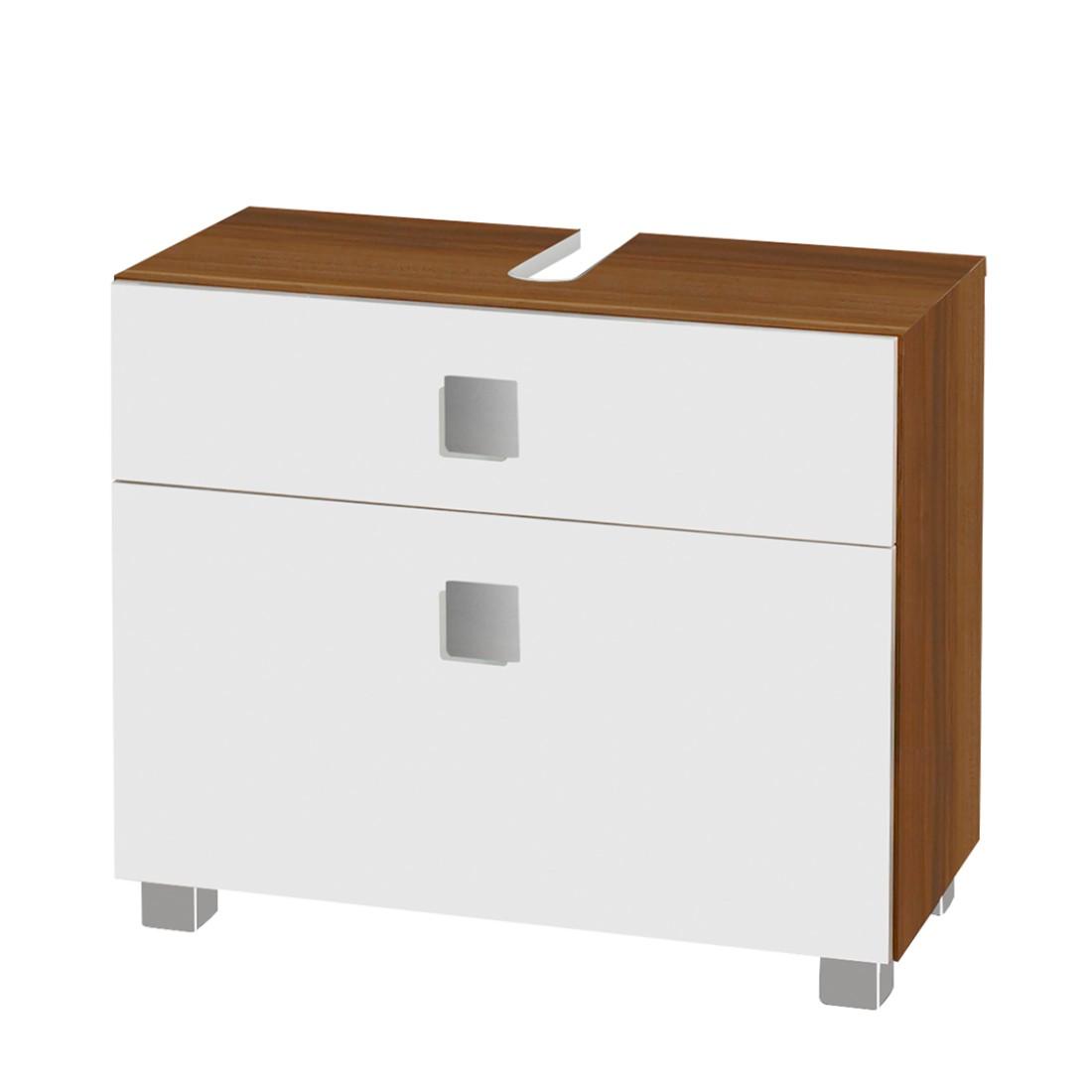 waschbeckenunterschrank genf wei glanz kernnussbaum. Black Bedroom Furniture Sets. Home Design Ideas