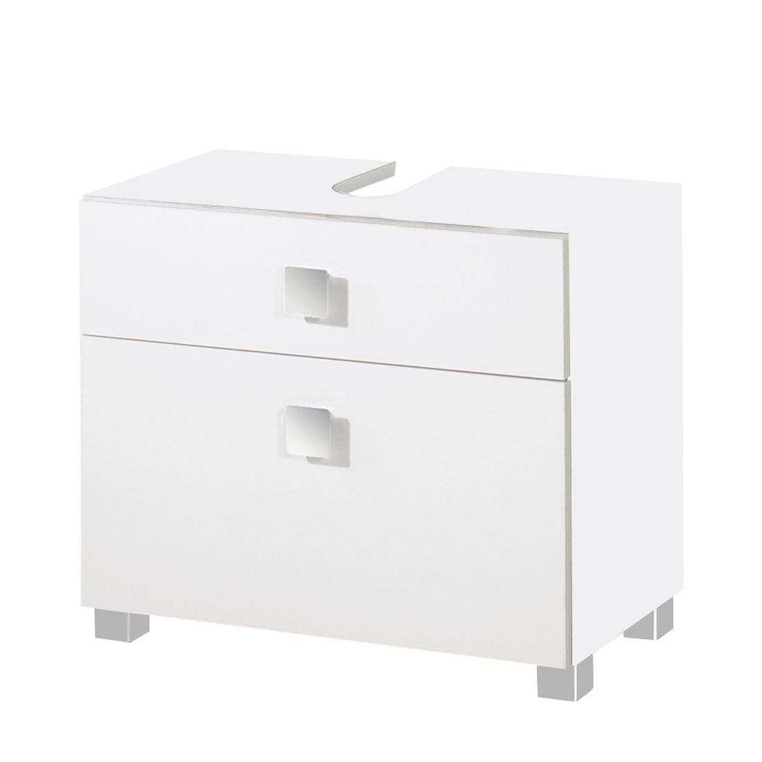 Waschbeckenunterschrank Genf – Weiß glanz/Weiß, Giessbach kaufen