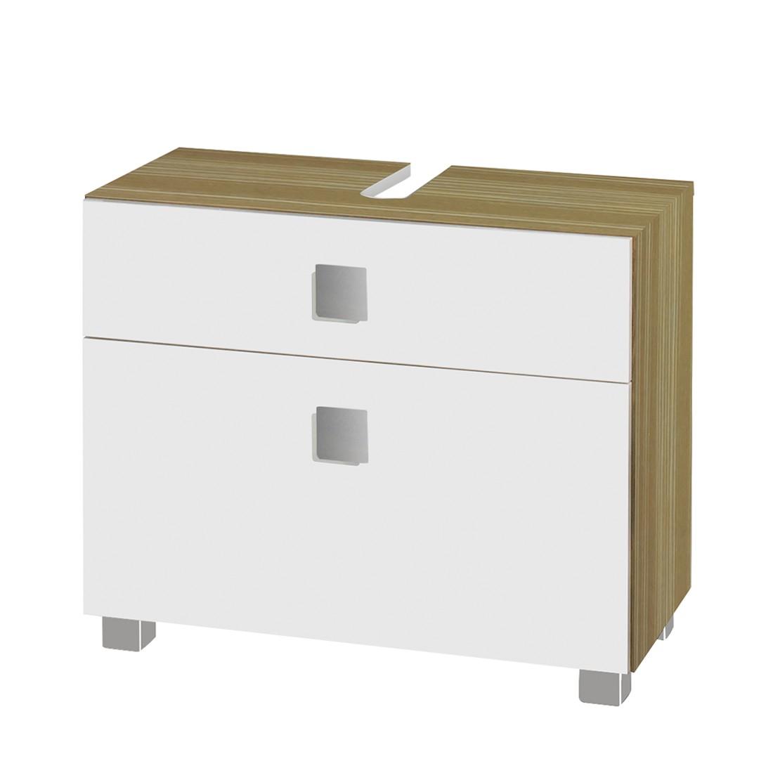 waschbeckenunterschrank genf wei glanz zebrino beige. Black Bedroom Furniture Sets. Home Design Ideas