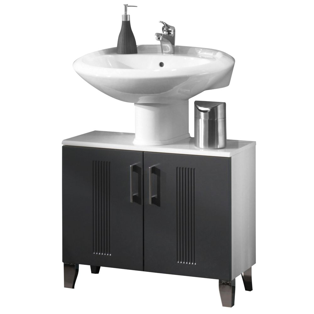 Waschbeckenunterschrank Greeceline - Grau/Weiß