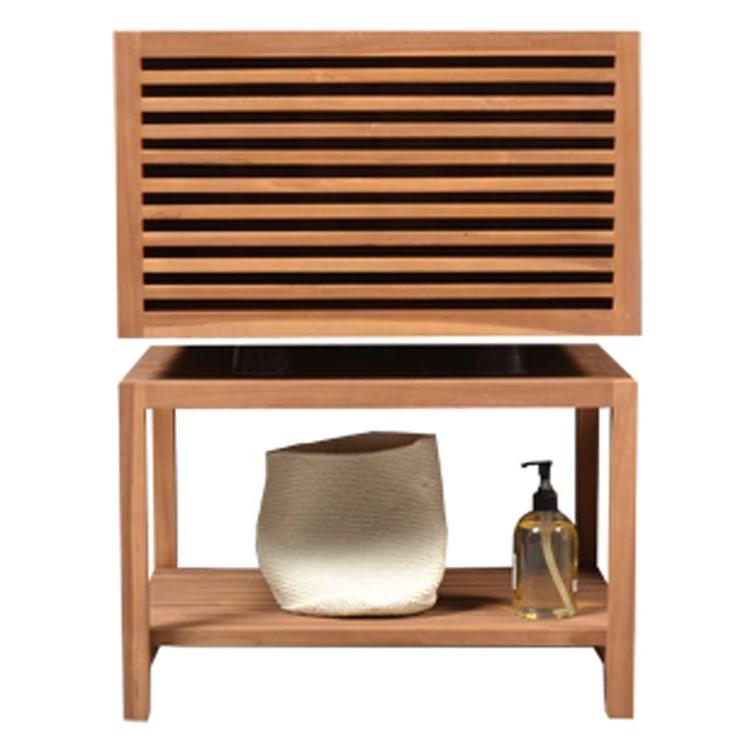 waschbeckenunterschrank leenda massivholz teak 60 cm. Black Bedroom Furniture Sets. Home Design Ideas