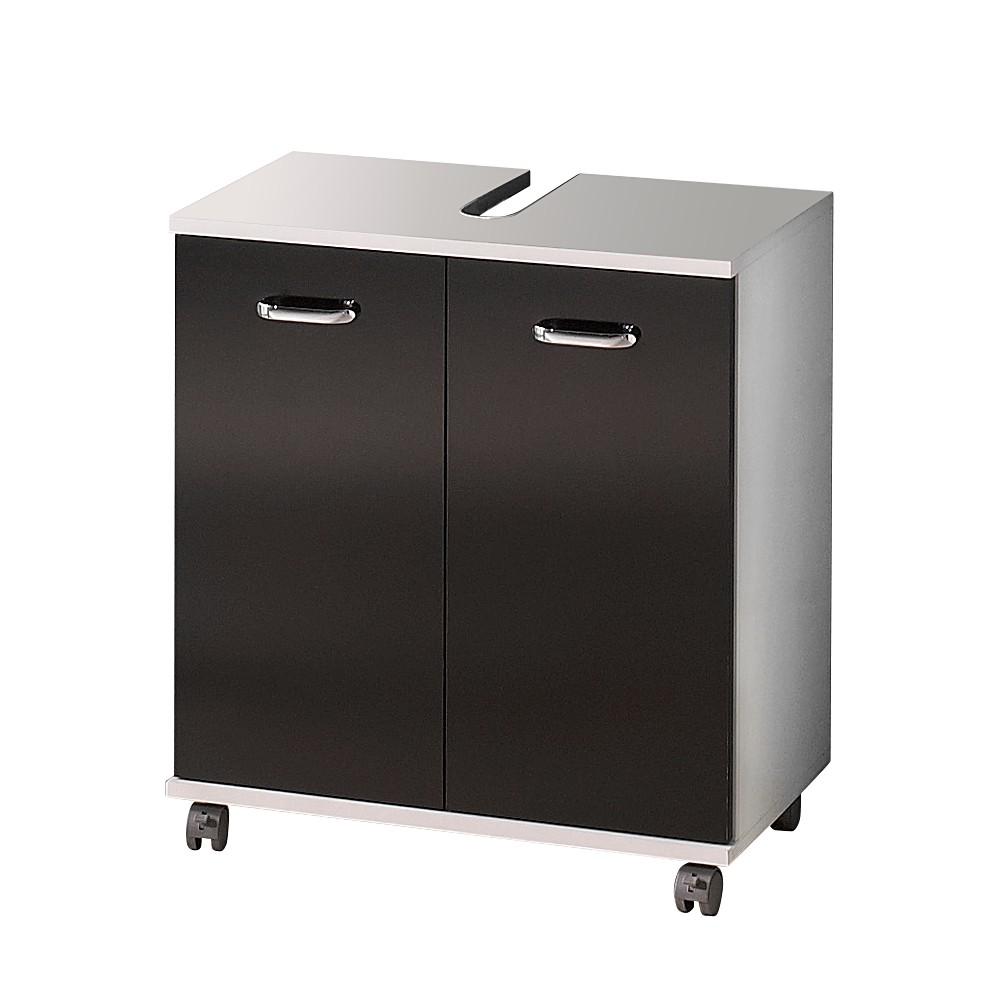 waschbeckenunterschrank lugano schwarz glanz wei perl. Black Bedroom Furniture Sets. Home Design Ideas