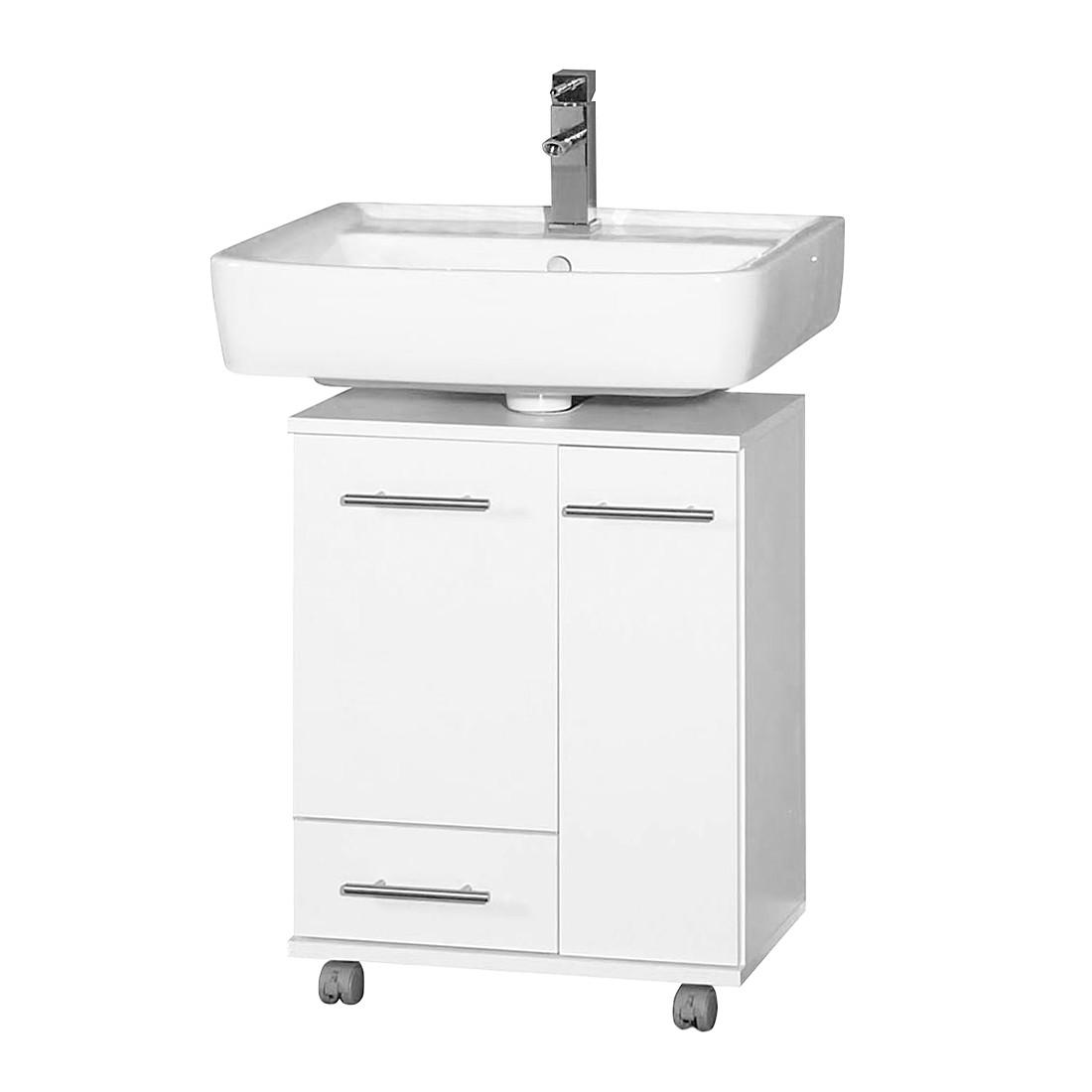 Waschbeckenunterschrank Ottawa – Mit einem Schubkasten – Weiss perl, Giessbach jetzt kaufen