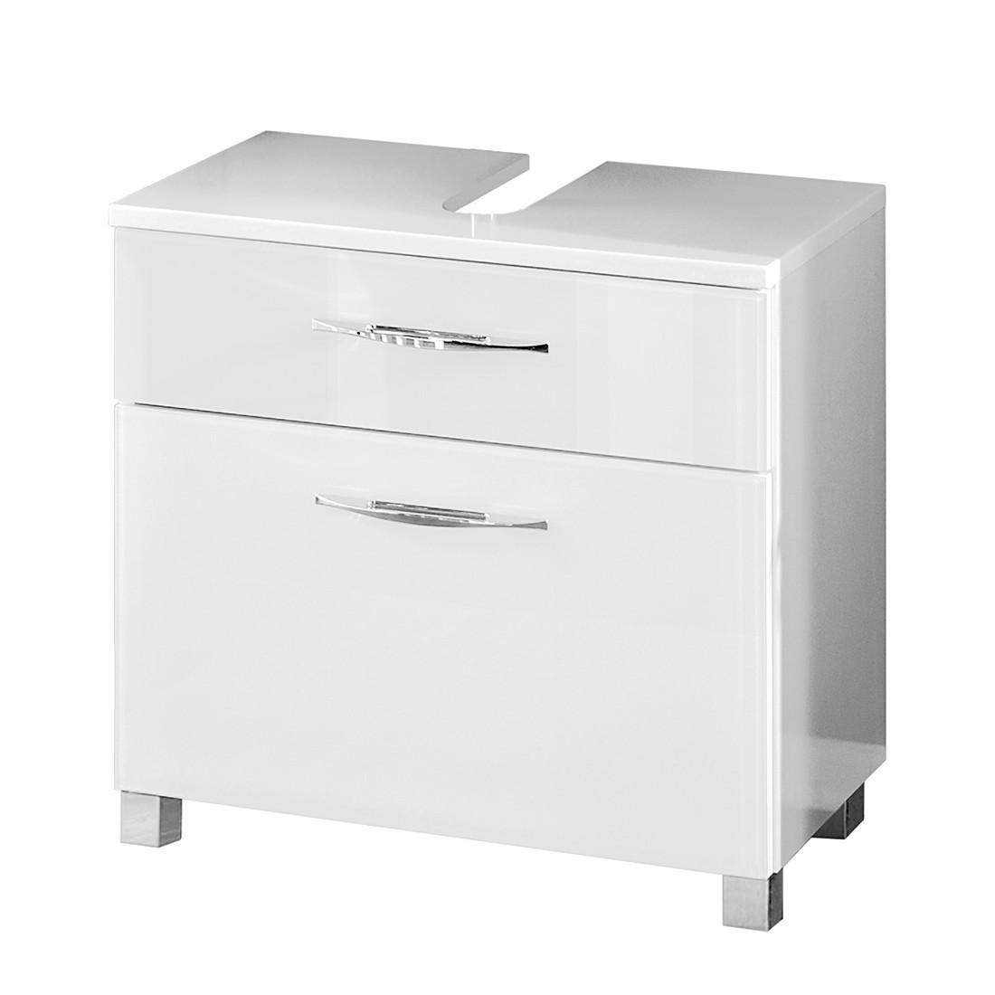 Waschbeckenunterschrank Pixy – Weiß/Glas Weiß, Giessbach kaufen