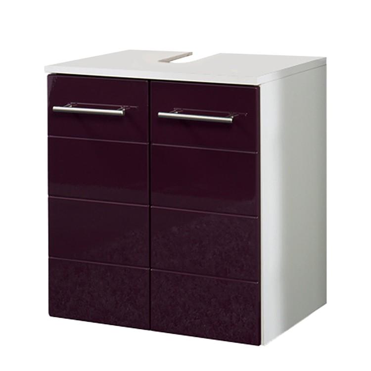 waschbeckenunterschrank rosary hochglanz aubergine wei. Black Bedroom Furniture Sets. Home Design Ideas