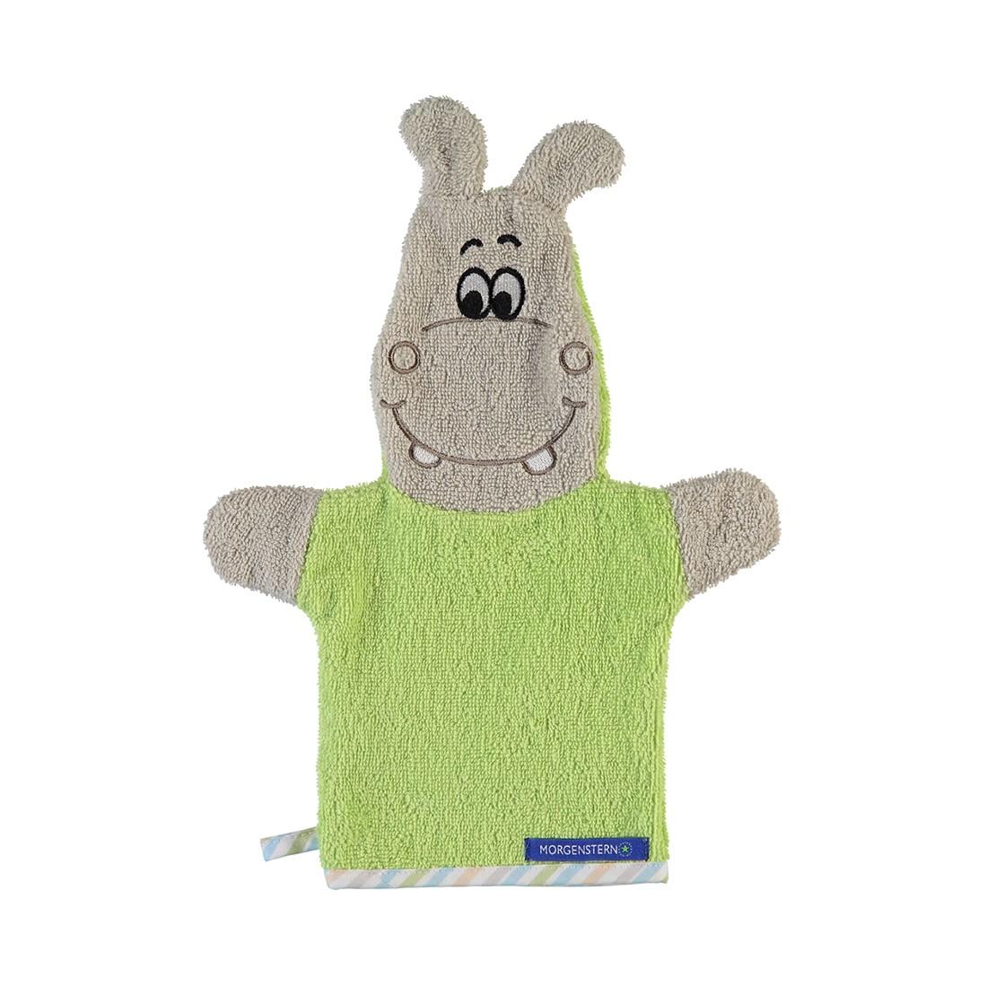 Waschhandschuh Animals Hippo – Baumwolle – Grün, Morgenstern kaufen