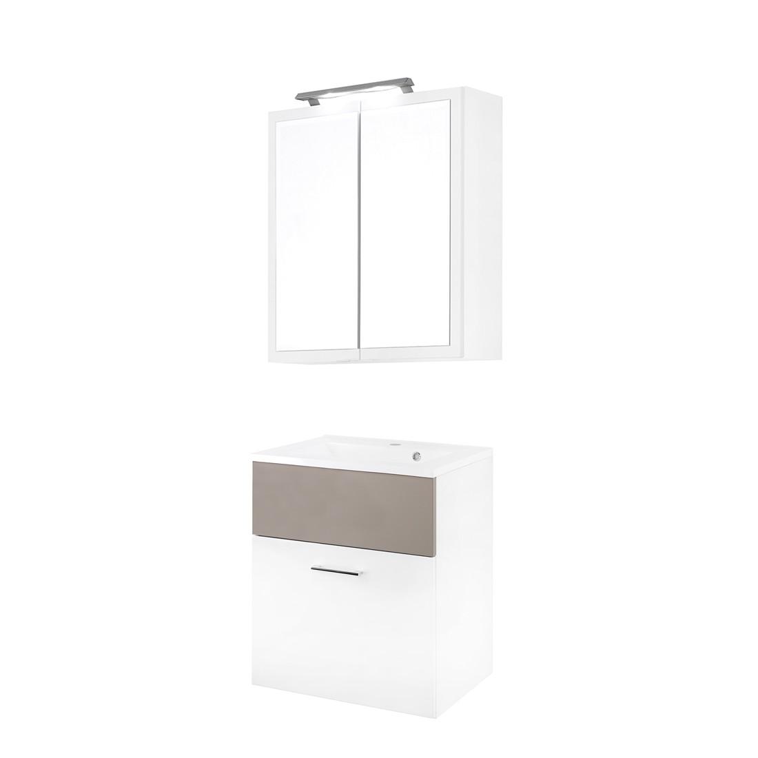 Waschmaschinenschrank Mit Waschbecken :  Weiß (Mit Waschtisch inkl Waschbecken)  Schrankinfo  Schrankinfo