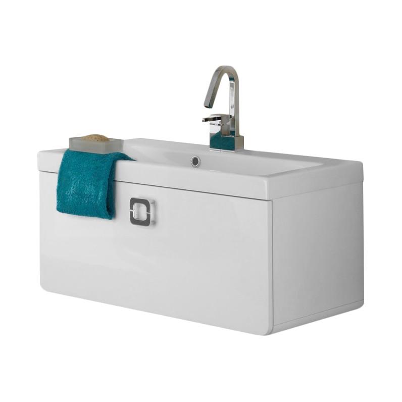 Waschtisch Alberta - weiß Hochglanz