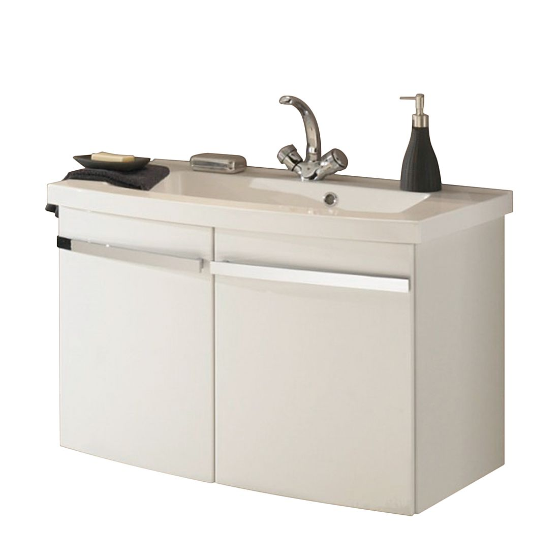 Waschtisch Bina - Hochglanz Weiß/Weiß