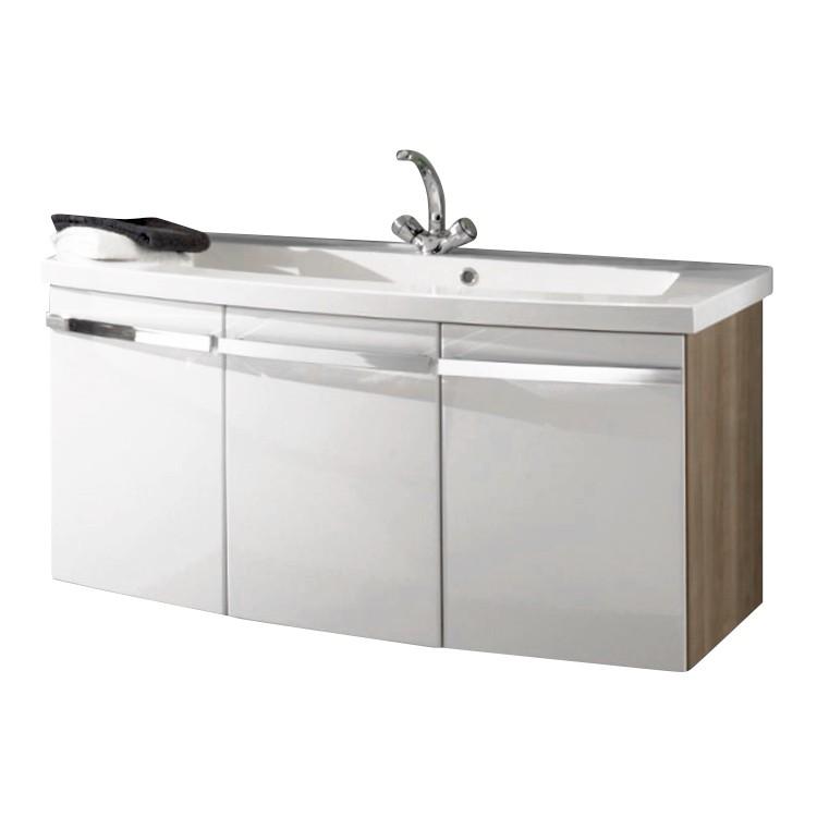 Waschtisch Bino - Noce/Weiß