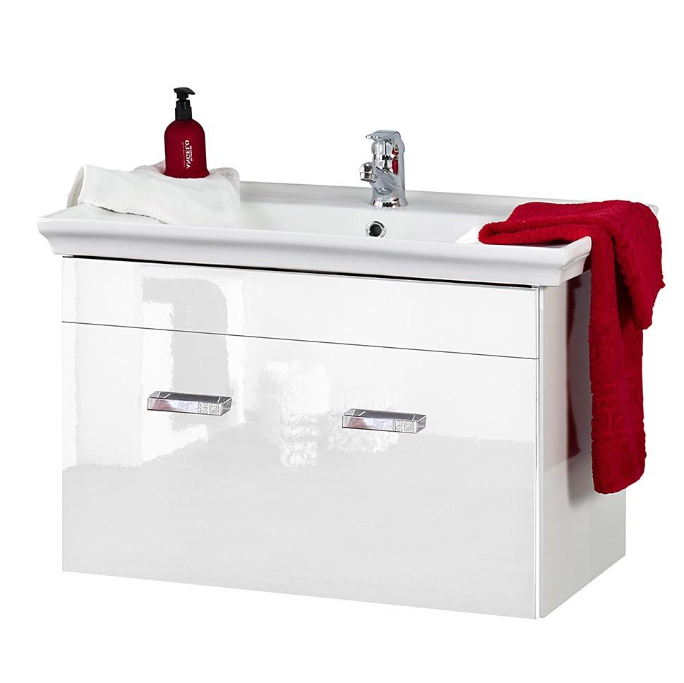 Meuble lavabo cambridge avec c ramique blanc brillant for Prix meuble vasque