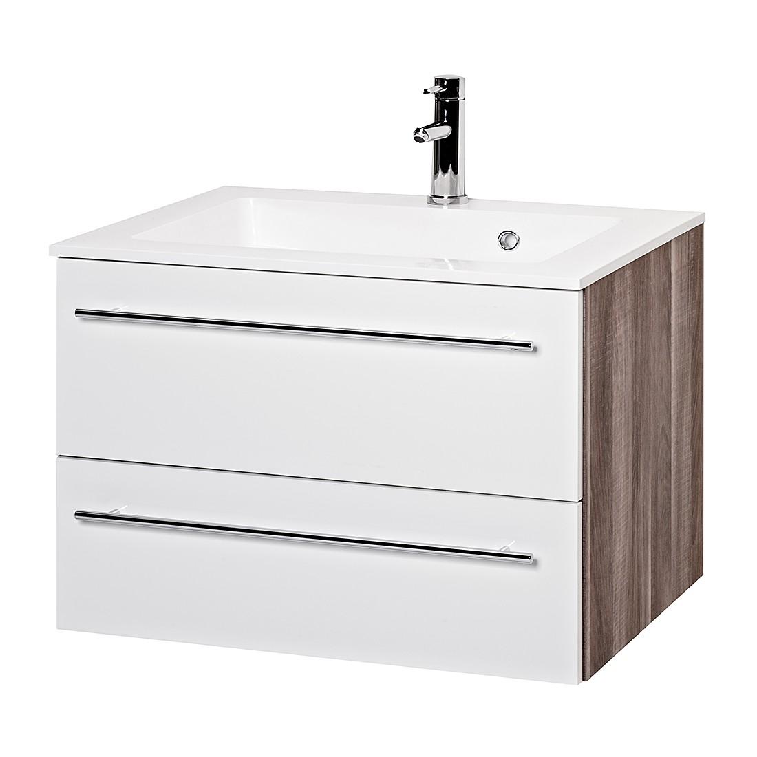 Waschtisch Cero II – Weiß/Trüffeleiche Dekor, Giessbach jetzt kaufen