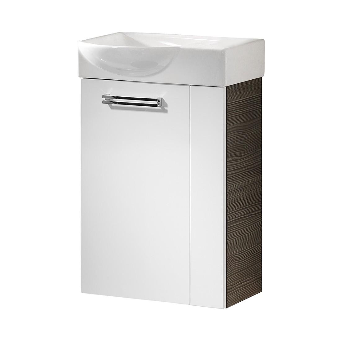 Waschtisch Como – Pinie-Anthrazit Dekor/Weiß – 45 cm – Links, Fackelmann bestellen
