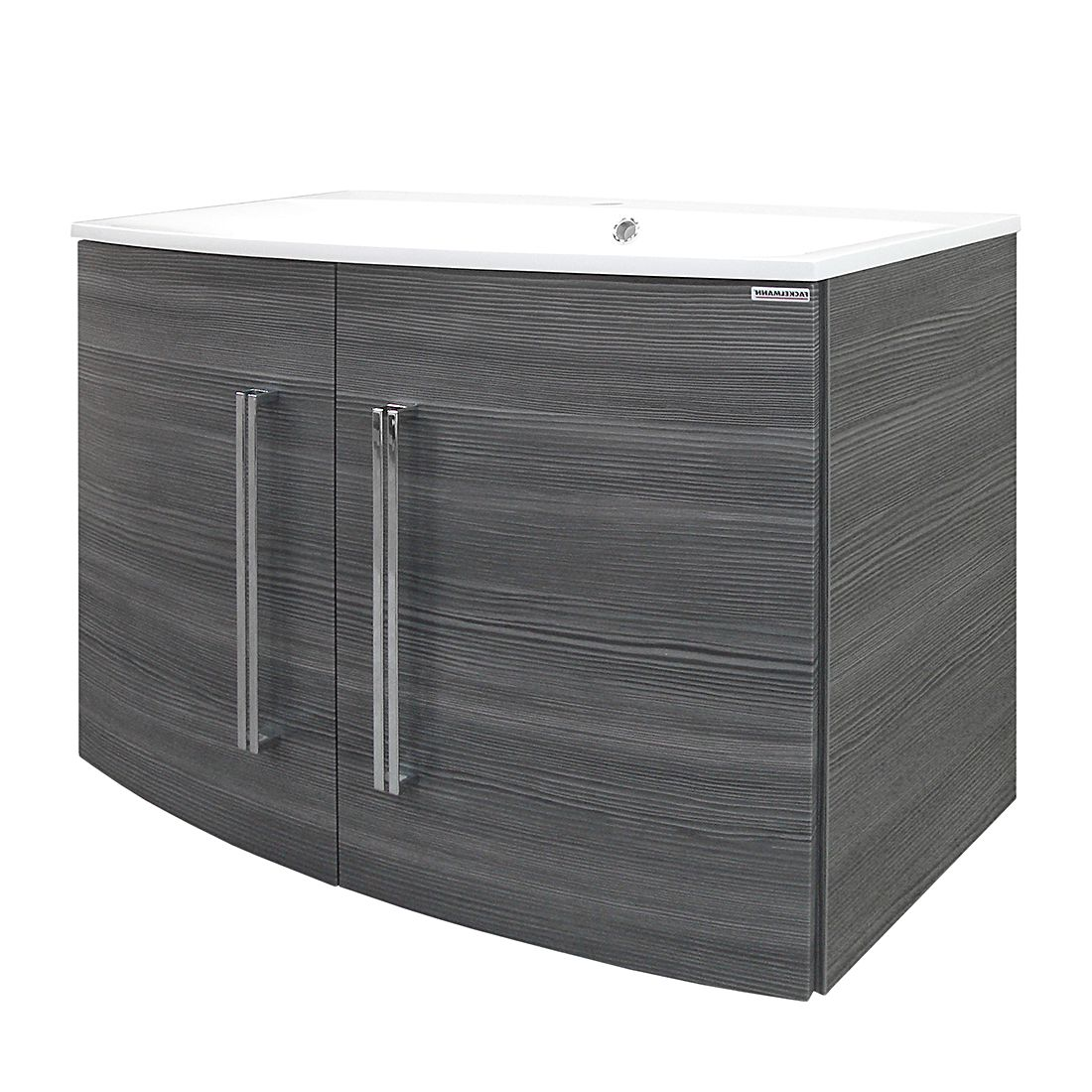 Waschtisch Lugano II – Pinie-Anthrazit Dekor – Mit Türen – Gussbecken, Fackelmann online bestellen