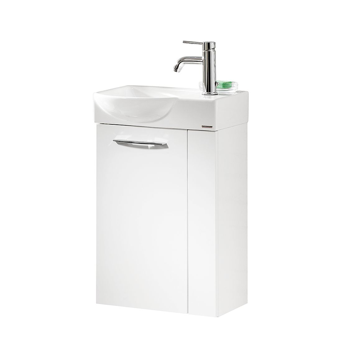 Waschtisch Vadea – Hochglanz Weiß – 45 cm – Links, Fackelmann jetzt bestellen