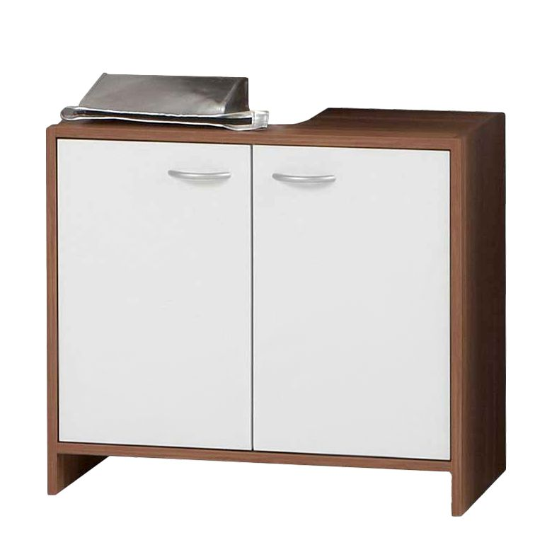 Waschtischunterschrank Montes – Weiß/Zwetschge, PerfectFurn jetzt bestellen