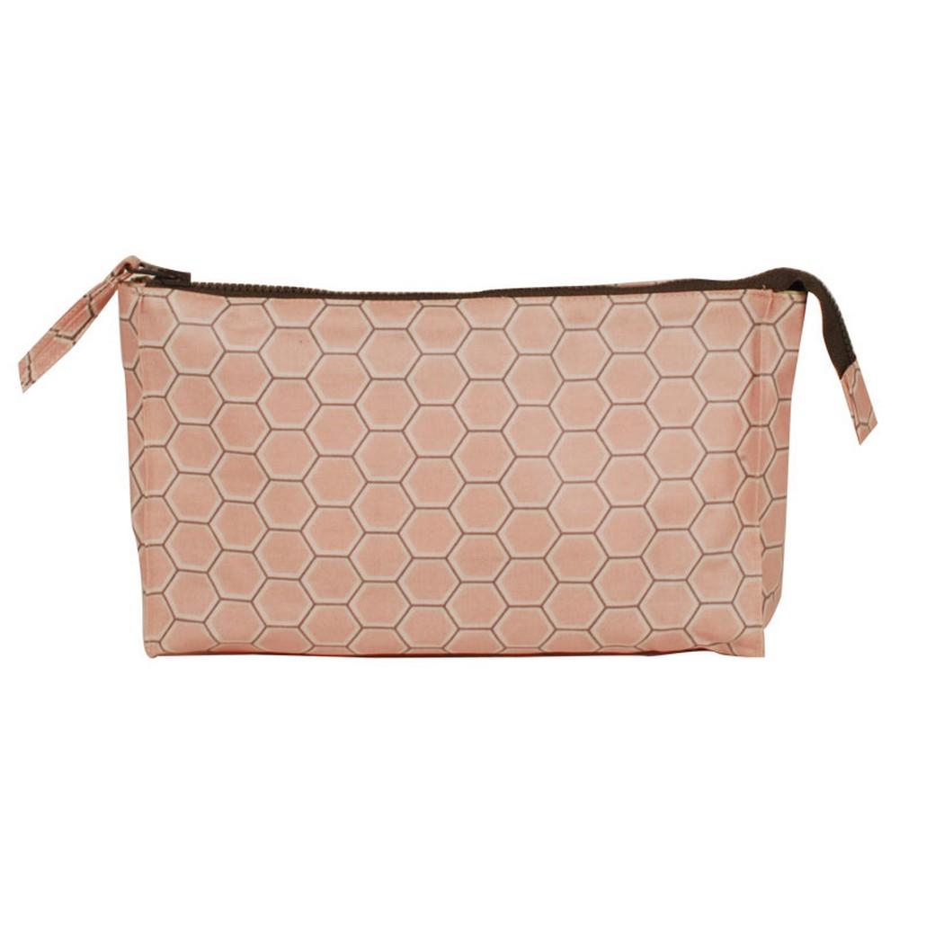 Wash Bag – Design Honey Combe Rose – PVC – Wabenmuster in Rosarot, Aspegren Denmark online kaufen