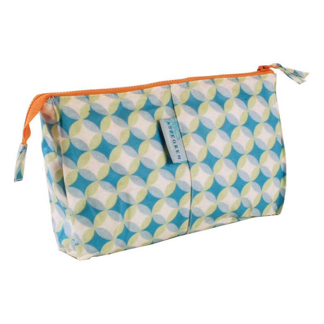 Wash Bag – Design Samba Aqua – PVC – Muster mit Grüne/Aqua Nuancen, Aspegren Denmark online bestellen