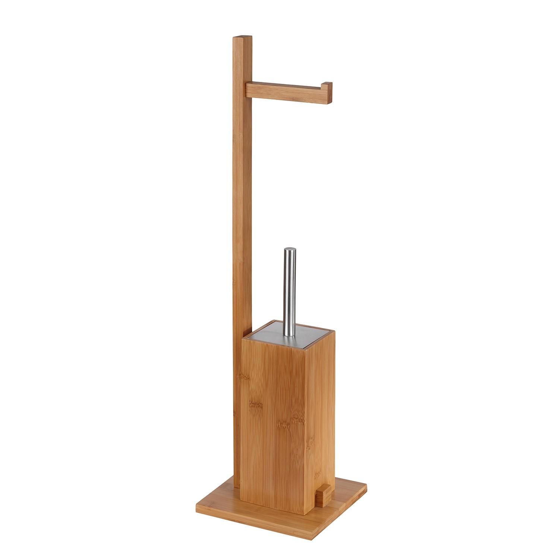WC-Garnitur Bambus I - Bambus - Braun, Sanwood