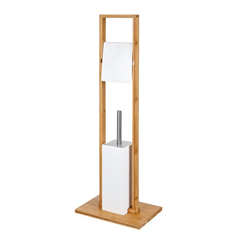 WC-Garnitur Bambus II - Bambus / Weiß, Sanwood