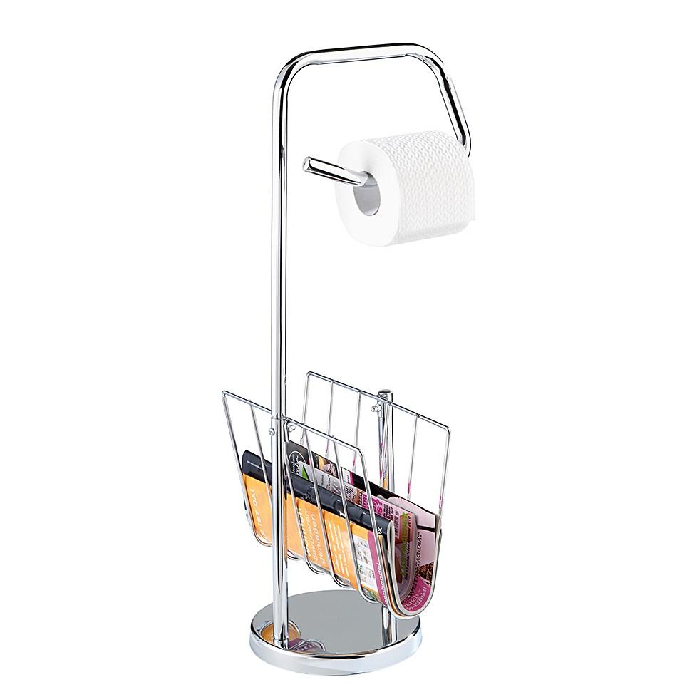 WC-Garnitur mit Zeitungshalter – Chrom, WENKO jetzt kaufen